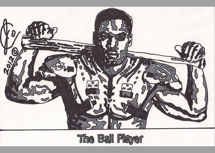 Bo Jackson Drawings Greeting Cards