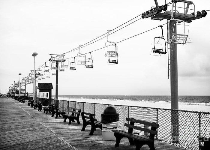 Boardwalk Ride Greeting Card featuring the photograph Boardwalk Ride by John Rizzuto