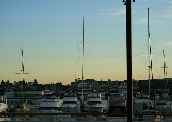 Boat Greeting Card featuring the photograph Boat Harbor by Joshua Sunday