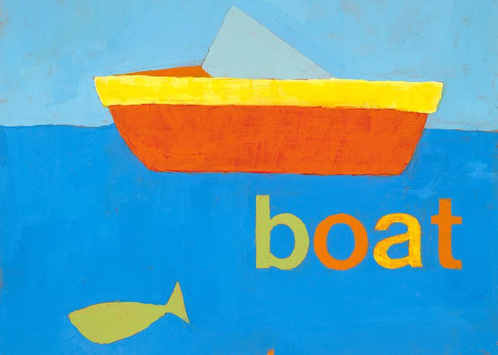 Boat Painting Greeting Card featuring the painting Boat by Laurie Breen