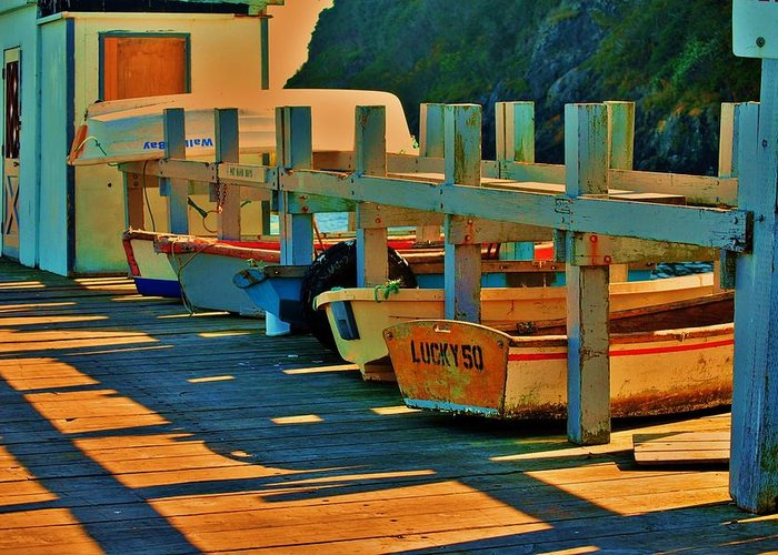 Boats Greeting Card featuring the photograph Boat Ride by Helen Carson