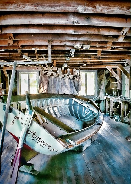 Boathouse Greeting Card featuring the photograph Boathouse by Heather Applegate
