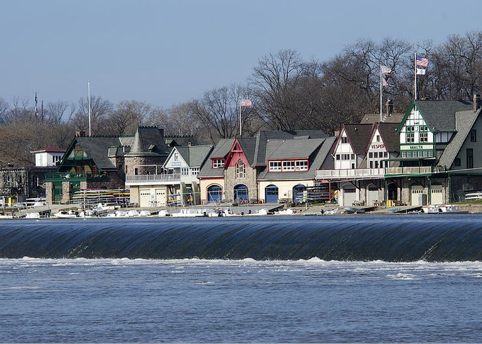 Boathouse Greeting Card featuring the photograph Boathouse Row - Philadelphia by Brendan Reals
