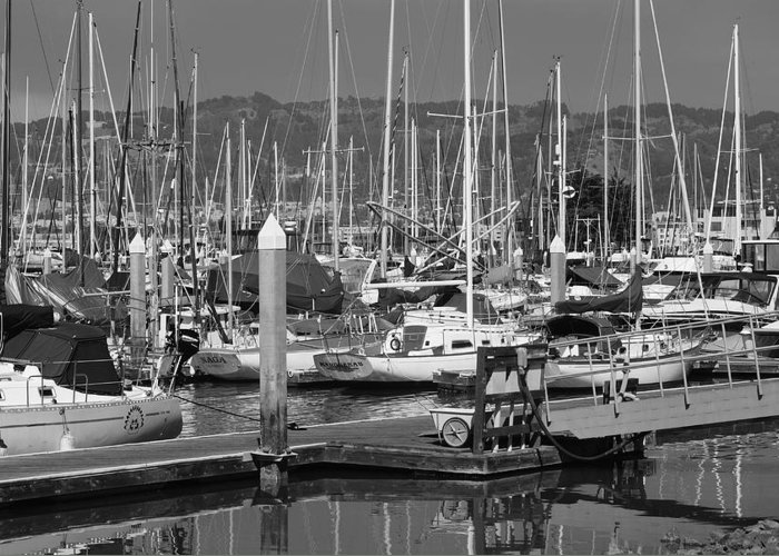 Boats Greeting Card featuring the photograph Boats At The Bay by Brian Anderson