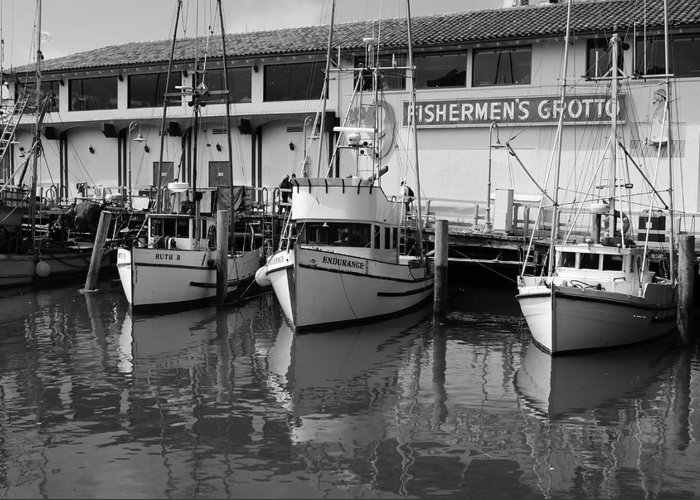 Water Greeting Card featuring the photograph Boats At The Dock by Brian Anderson