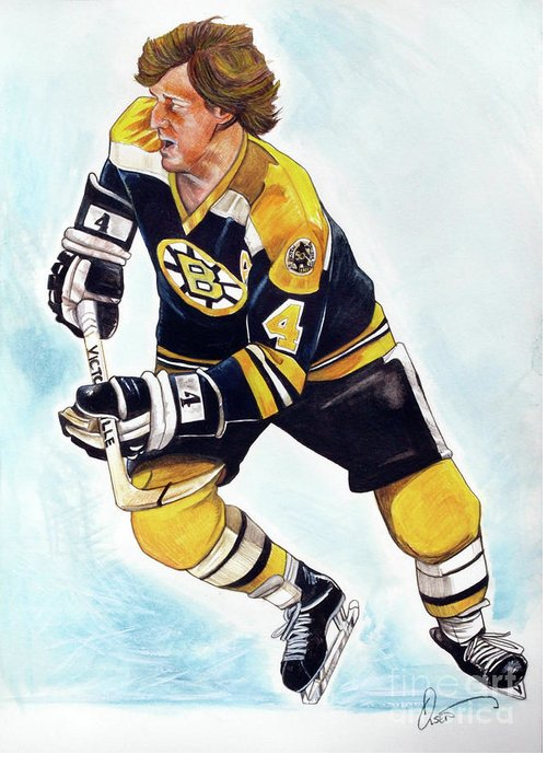 Bobby Orr Greeting Card featuring the painting Bobby Orr by Dave Olsen