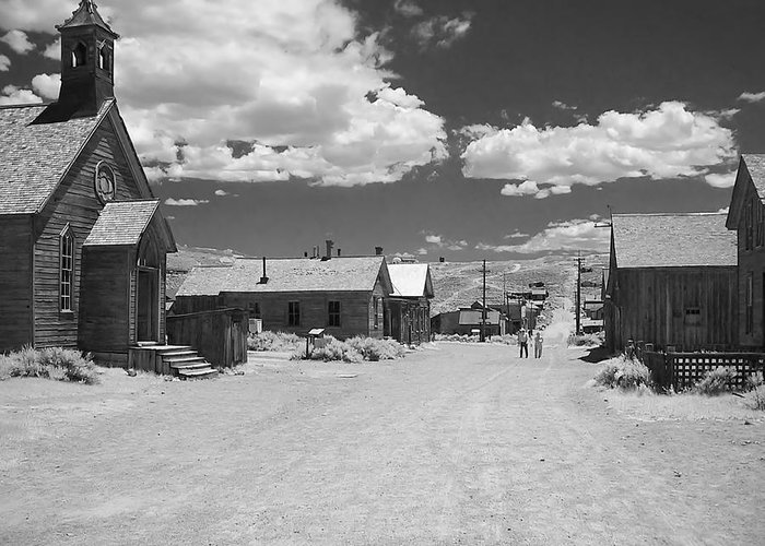 Ghost Town Greeting Card featuring the photograph Bodie A Ghost Town Infrared by Christine Till