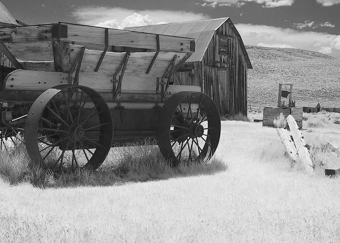 Old Greeting Card featuring the photograph Bodie Ca - Praise The Lord And Pass The Ammunition by Christine Till