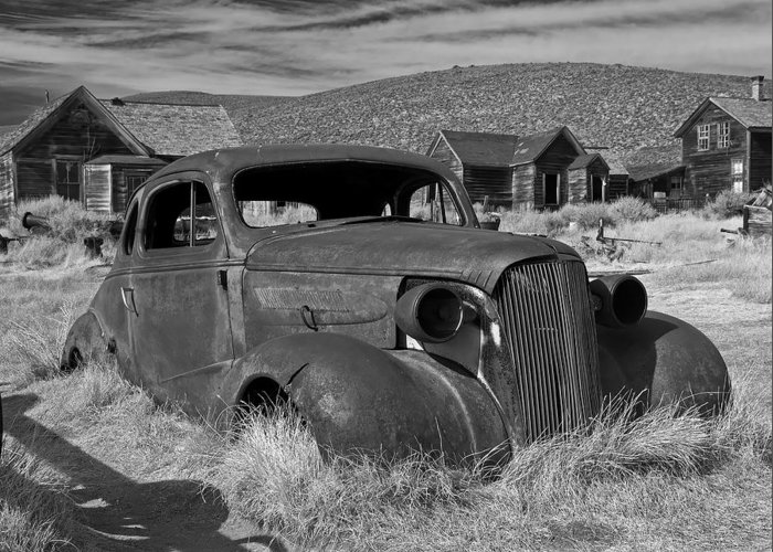 Black And White Greeting Card featuring the photograph Bodie IIi by Larry Young