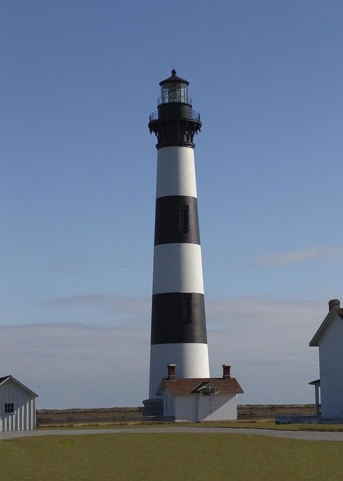 Lighthouse Greeting Card featuring the photograph Bodie Lighthouse by Tina B Hamilton