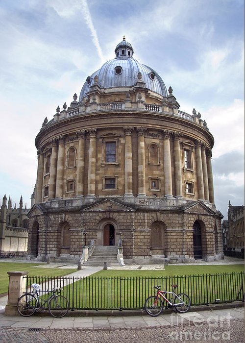 Academic Greeting Card featuring the photograph Bodlien Library Radcliffe Camera by Jane Rix
