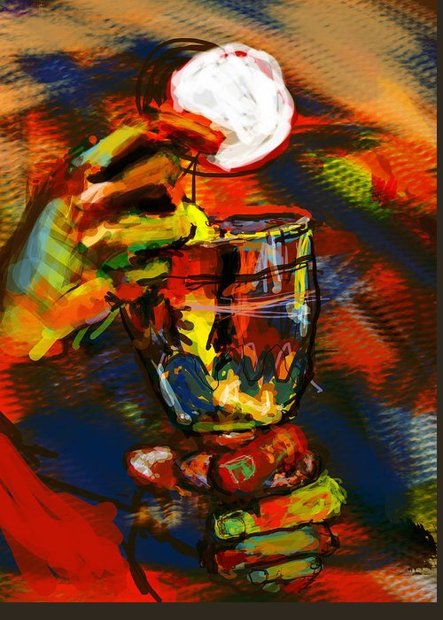 Eucharist Greeting Card featuring the digital art Body And Blood by James Thomas