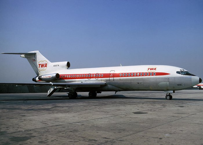 Boeing 727-031 Trans World Airlines Twa N856tw Greeting Card
