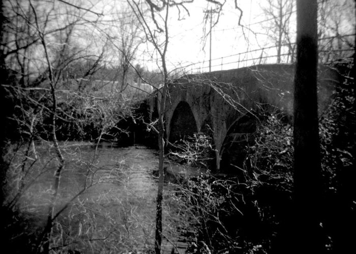 Photograph Greeting Card featuring the photograph Boiling Springs Bridge by Jean Macaluso