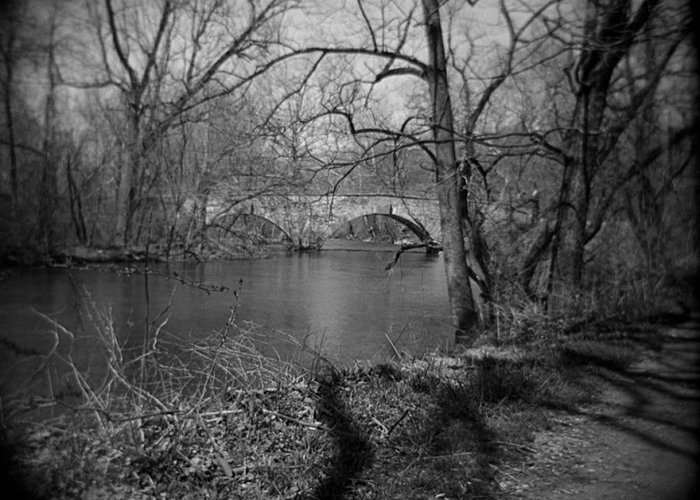 Photograph Greeting Card featuring the photograph Boiling Springs Stone Bridge by Jean Macaluso