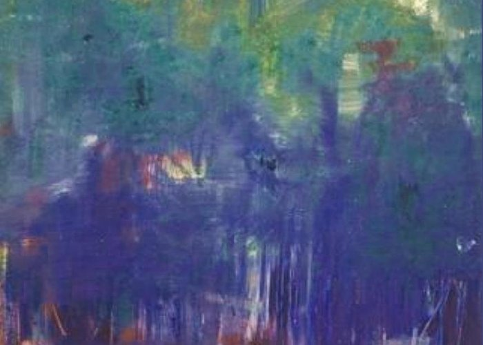 Park Greeting Card featuring the painting Bois De Boulogne by Michael Puya