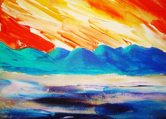 Bright Greeting Card featuring the painting Bold Day by Melinda Etzold