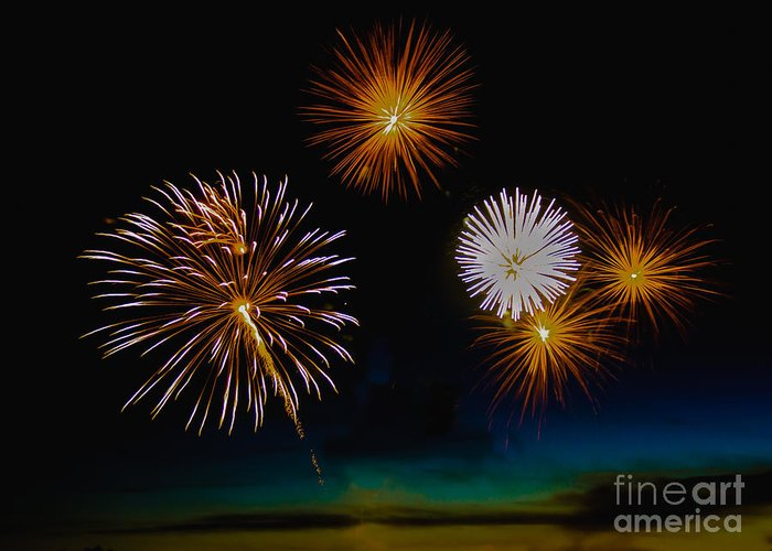 Fireworks Greeting Card featuring the photograph Bombs Bursting In The Air by Robert Bales