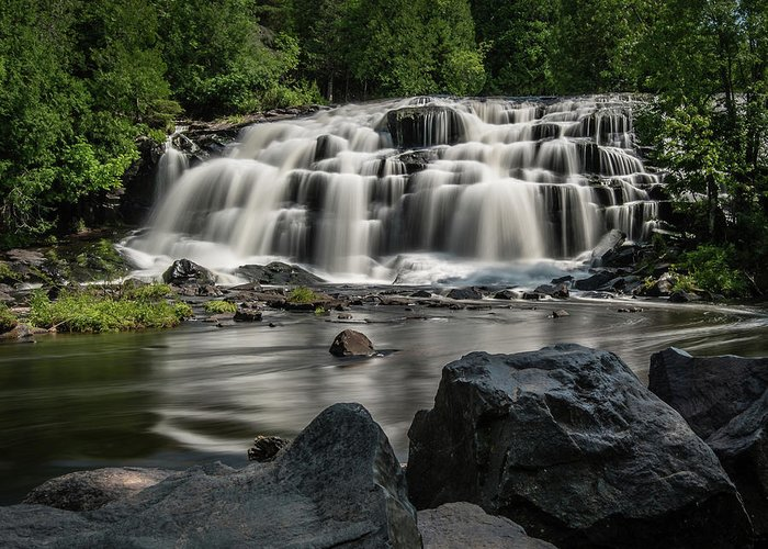 Michigan Waterfall Greeting Card featuring the photograph Bond Falls IIi by William Christiansen
