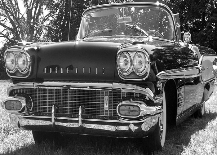 Car Greeting Card featuring the photograph Bonneville by Audrey Venute
