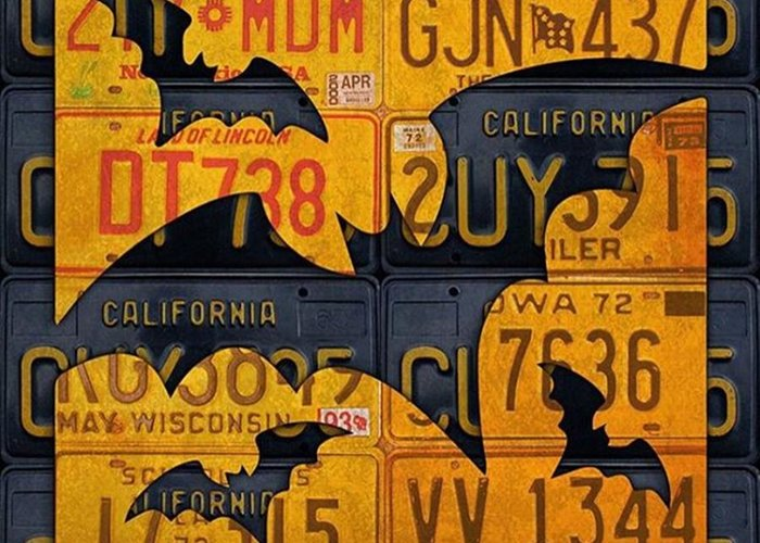 Prints Greeting Card featuring the photograph #boo  @fineartamerica #licenseplates by Design Turnpike