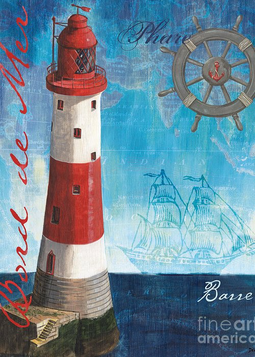 Coastal Greeting Card featuring the painting Bord De Mer by Debbie DeWitt