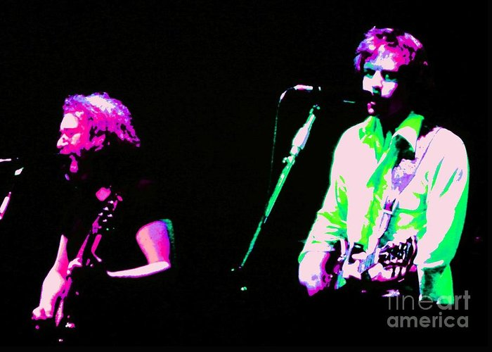 Music Greeting Card featuring the photograph Grateful Dead - Born Cross Eyed by Susan Carella