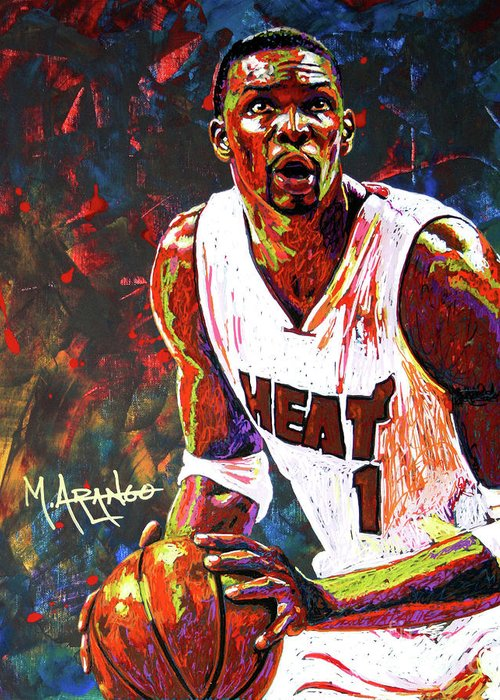 Chris Greeting Card featuring the painting Bosh by Maria Arango