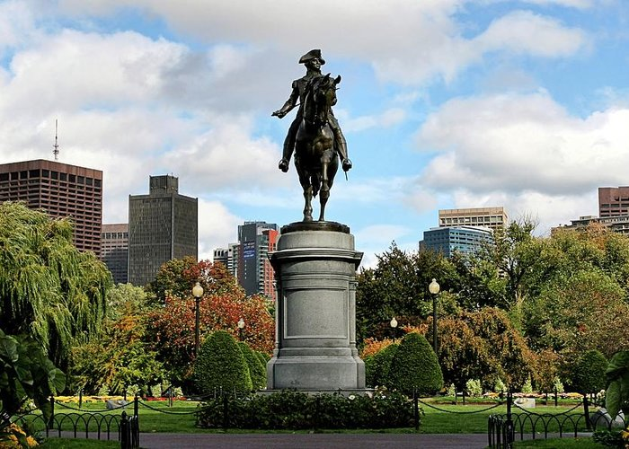 Boston Greeting Card featuring the photograph Boston Common by DJ Florek