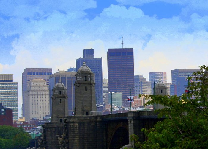 Boston Greeting Card featuring the photograph Boston by Julie Lueders