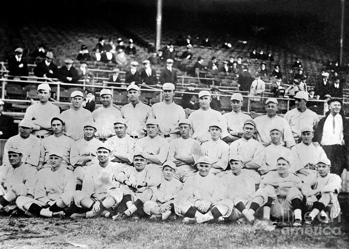 1916 Greeting Card featuring the photograph Boston Red Sox, 1916 by Granger