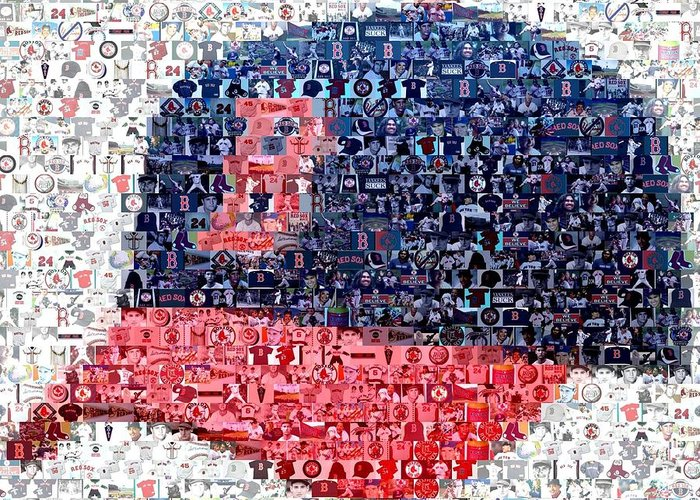 Boston Red Sox Digital Art Greeting Cards