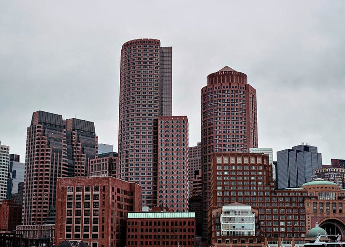 Boston Greeting Card featuring the photograph Boston Skyline by Alice Donavan
