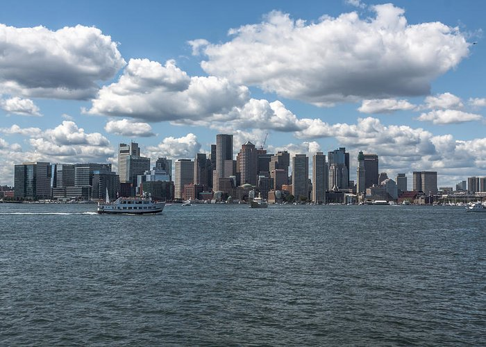 Boston Greeting Card featuring the photograph Boston Skyline by Brian MacLean