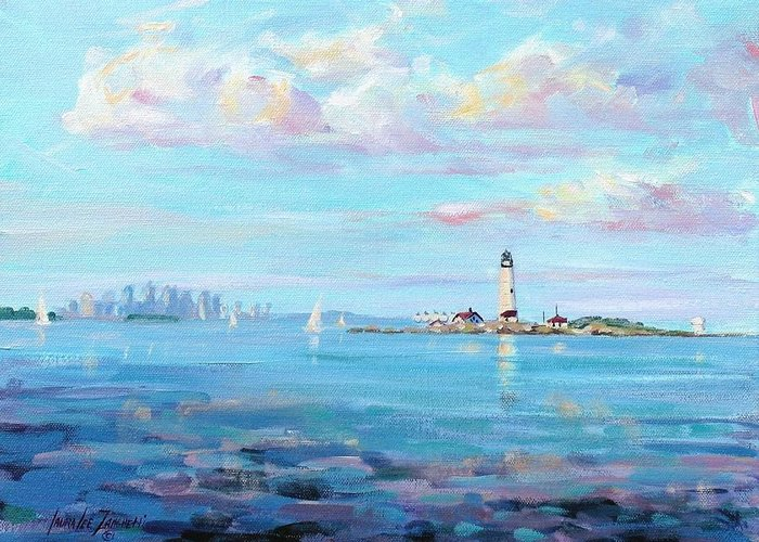 New England Lighthouse Paintings Greeting Cards