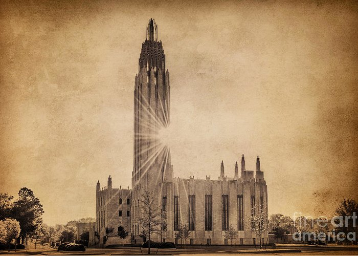 Tulsa Greeting Card featuring the photograph Boston United Methodist Church by Tamyra Ayles