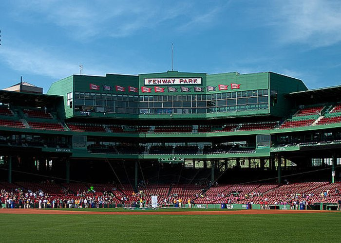 boston Red Sox Greeting Card featuring the Boston's Gem by Paul Mangold