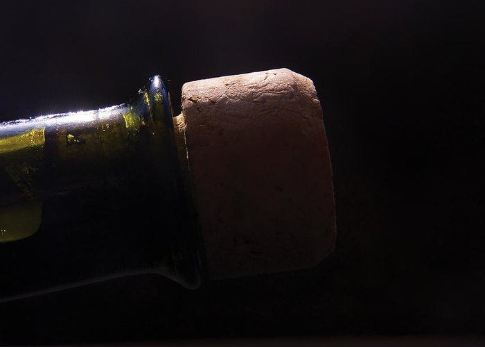 Bottle Greeting Card featuring the photograph bottle top and Cork by Steve Somerville