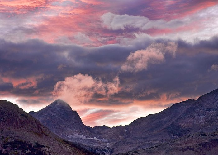 boulder County Greeting Card featuring the photograph Boulder County Colorado Indian Peaks At Sunset by James BO Insogna
