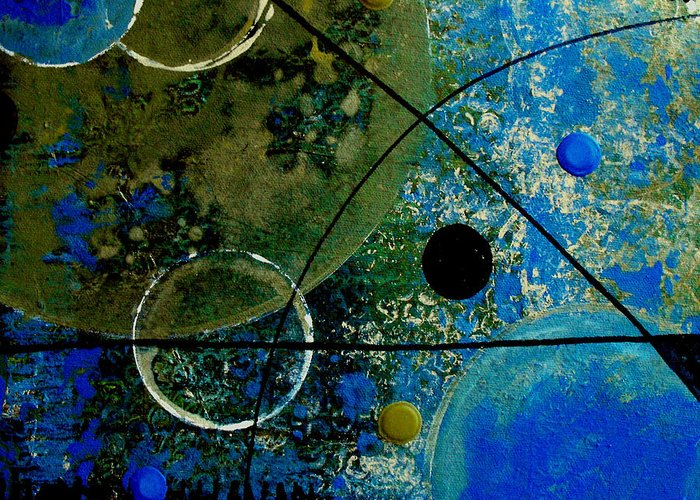 Abstract Greeting Card featuring the painting Bouncer by Ruth Palmer