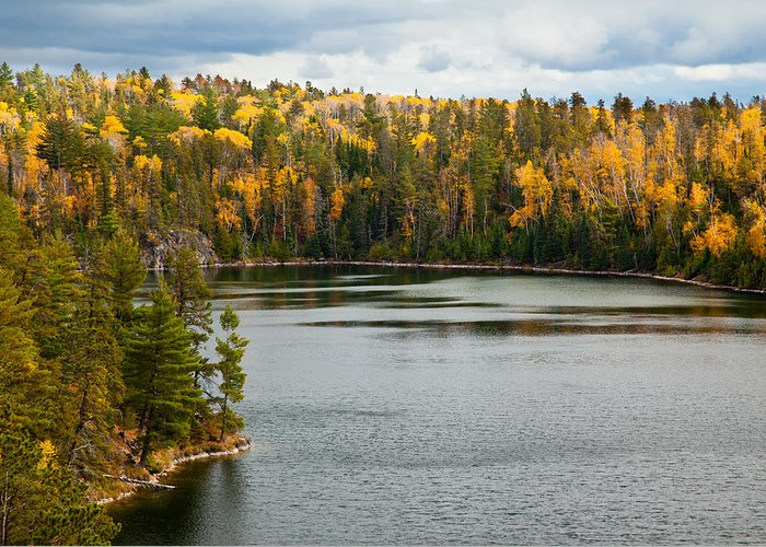 Minnesota Greeting Card featuring the photograph Boundary Waters Overlook by Adam Pender