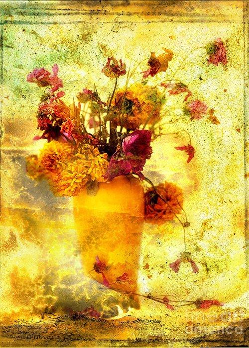 Art Greeting Card featuring the photograph Bouquet by Bernard Jaubert