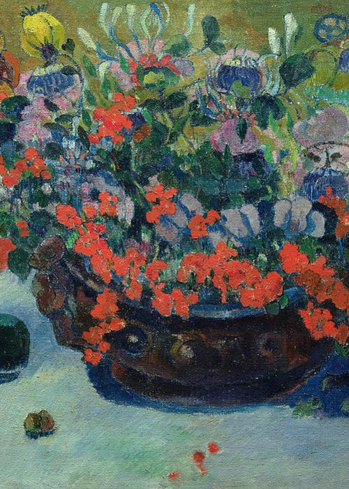 Bouquet Greeting Card featuring the painting Bouquet Of Flowers by Paul Gauguin