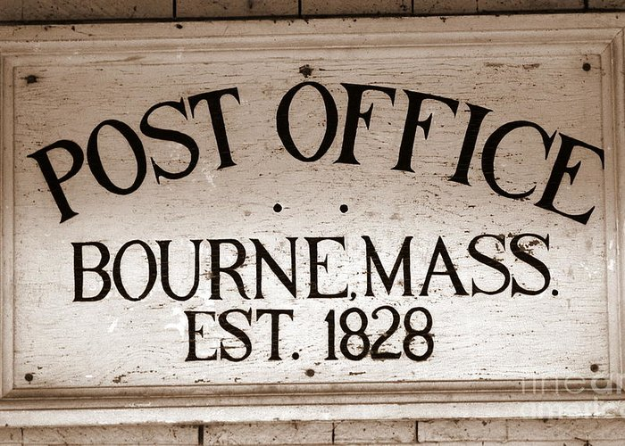 Greeting Card featuring the photograph Bourne Po by Carol Christopher