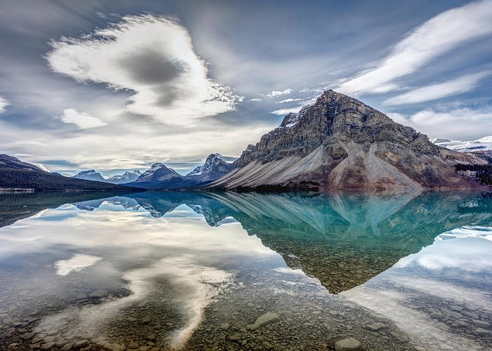 5dsr Greeting Card featuring the photograph Bow Lake Sky by Pierre Leclerc Photography
