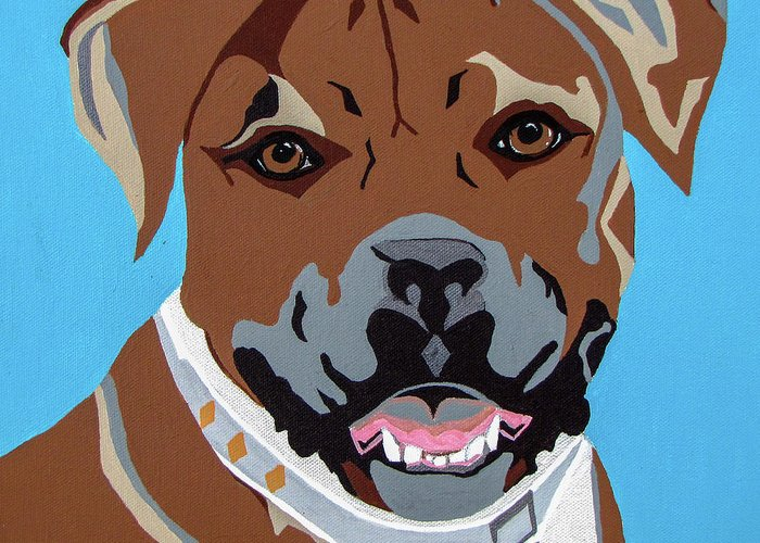 Boxer Greeting Card featuring the painting Boxer by Slade Roberts