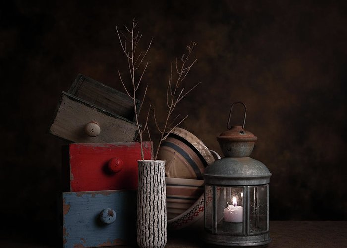 Wooden Bowl Greeting Cards