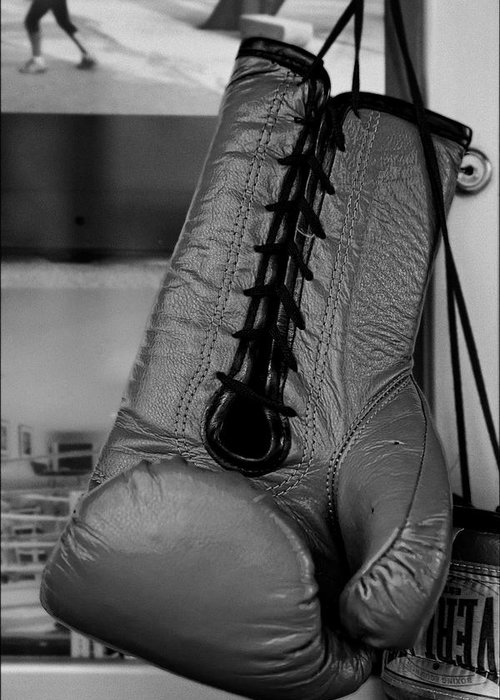 Boxing Glove Greeting Card featuring the photograph Boxing Glove by Robert Ullmann