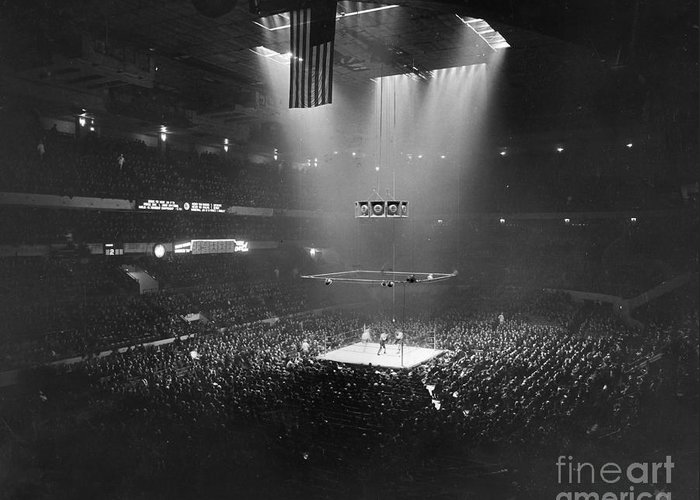 1941 Greeting Card featuring the photograph Boxing Match, 1941 by Granger