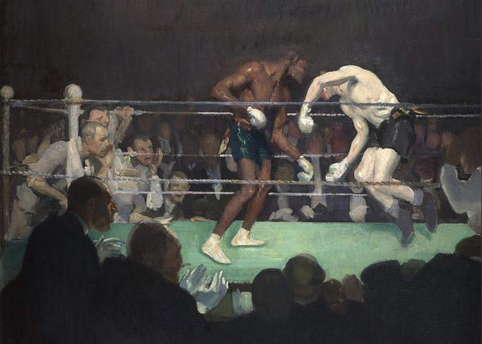 Boxing Greeting Card featuring the painting Boxing Match by George Luks